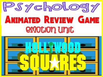 Psychology Hollywood Square ANIMATED Review Game-Emotion unit