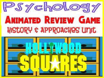 Psychology Hollywood Square ANIMATED Review Game-History Approaches Intro unit