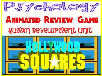 Psychology Hollywood Square ANIMATED Review Game-Human Development unit