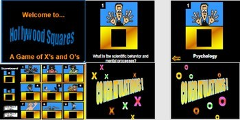 Psychology Hollywood Square ANIMATED Review Game-Learning unit