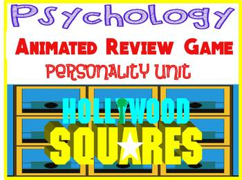 Psychology Hollywood Square ANIMATED Review Game-Personality  unit