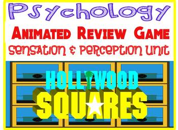Psychology Hollywood Square ANIMATED Review Game-Sensation & Perception unit