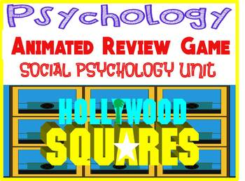 Psychology Hollywood Square ANIMATED Review Game-Social Psych unit