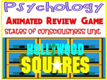 Psychology Hollywood Square ANIMATED Review Game-States of Consciousness uni