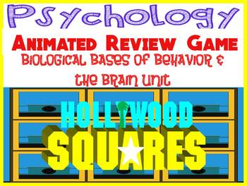 Psychology Hollywood Squares Review Game-Biological Bases of Behavior & Brain