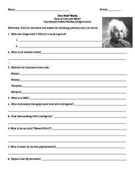 Psychology How Stuff Works Internet Assignment How Geniuses Work