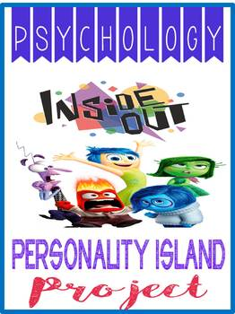 Psychology Inside Out Project Personality Island, Rubric, Movie Guide, Handouts