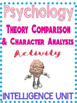 Psychology Intelligence Theory Comparison & Character Analysis Activity