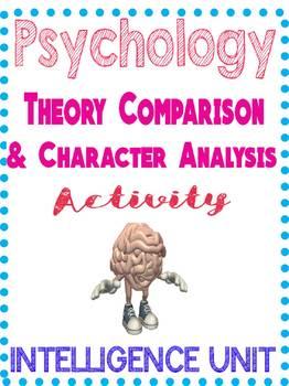 Psychology Intelligence Theory Comparison & Character Analysis Activity