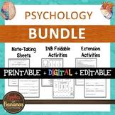 Psychology - Interactive Note-Taking BUNDLE