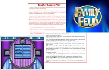 Psychology Interactive Survey Demonstration Family Feud Game Research Methods