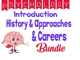 Psychology Introduction Psychology History and Approaches  Careers Unit Bundle