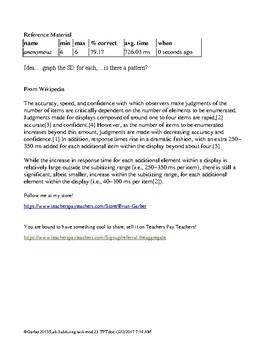 Psychology Lab Subitizing Task Cognition Myers Mod 23