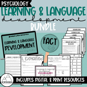 Psychology: Learning & Language Development Bundle