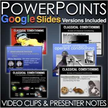 Psychology: Learning Unit: PowerPoint, Worksheets, Plans+Test Video Clips