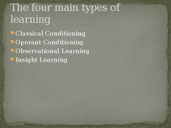 Psychology: Learning and Conditioning