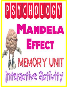 Psychology Mandela Effect Activity for Memory Unit