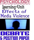 Psychology Media Violence Debate & Position Paper Rubric L