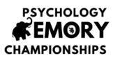 Psychology Memory Championships *Editable