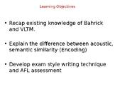 Psychology - Memory - Encoding in Short Term Memory
