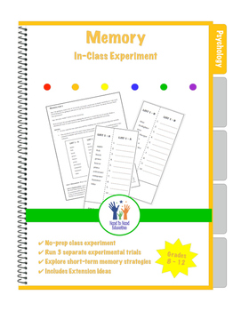 Psychology Memory Experiment Lesson Plan