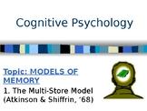 Psychology - Memory - Multi Store Model