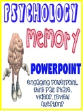 Psychology Memory Fun and Engaging  PowerPoint with activities