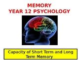 Psychology - Memory - Short Term Memory Capacity and Chunking