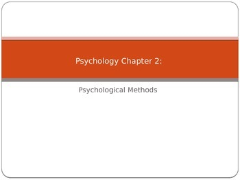 Psychology Methods of Study