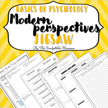 Basics of Psychology: Modern Perspective Jigsaw & Sketchnotes