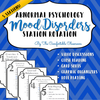 Psychology: Mood Disorders Station Rotation
