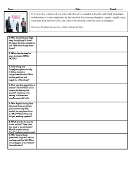 Psychology Movie Guide Matchstick Men for Abnormal Mental Disorders