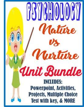 Psychology Nature VS Nurture Unit Bundle