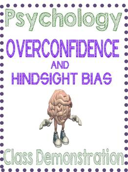 Psychology Overconfidence Demonstration Lesson Research Methods Unit