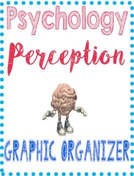 Psychology Perception/Gestalt Graphic Organizer for Key Concepts