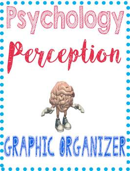 Psychology Perception/Gestalt Graphic Organizer for Key Concepts