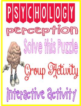 Psychology Perception Solve This Puzzle Group Simulation Activity