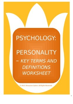 key terms and definitions for psychology The operational definition of  the definition in terms of rational  emilio what is defined in operational definitions the case of operant psychology.