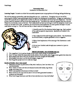 Psychology: Personality Mask