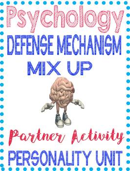 Defense Mechanism Psychology Worksheets Teaching Resources Tpt