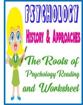 Psychology Philosophical Roots Reading  Graphic Organizer cover early psychology