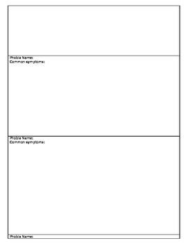 Psychology - Phobias project outline