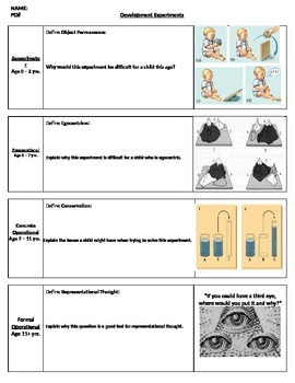 Psychology - Piaget packet