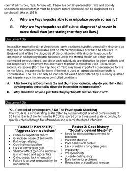 Psychology - Psychopath / Sociopaths