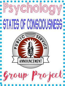 Psychology Public Service Announcement Project Consciousness Unit Rubric Example