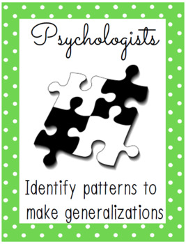 Psychology: Read Write & Think Like a Psychologist Posters