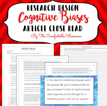 Psychology Research Design: Biases Close Read
