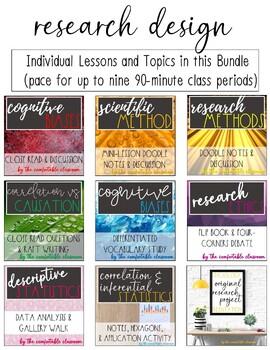 Psychology Research Design *UNIT BUNDLE*