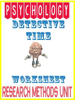Psychology Research Methods Analysis Assignment: Detective Time