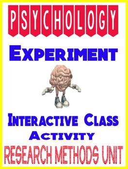 Psychology Research Methods Class Experiment Activity Interactive Lesson